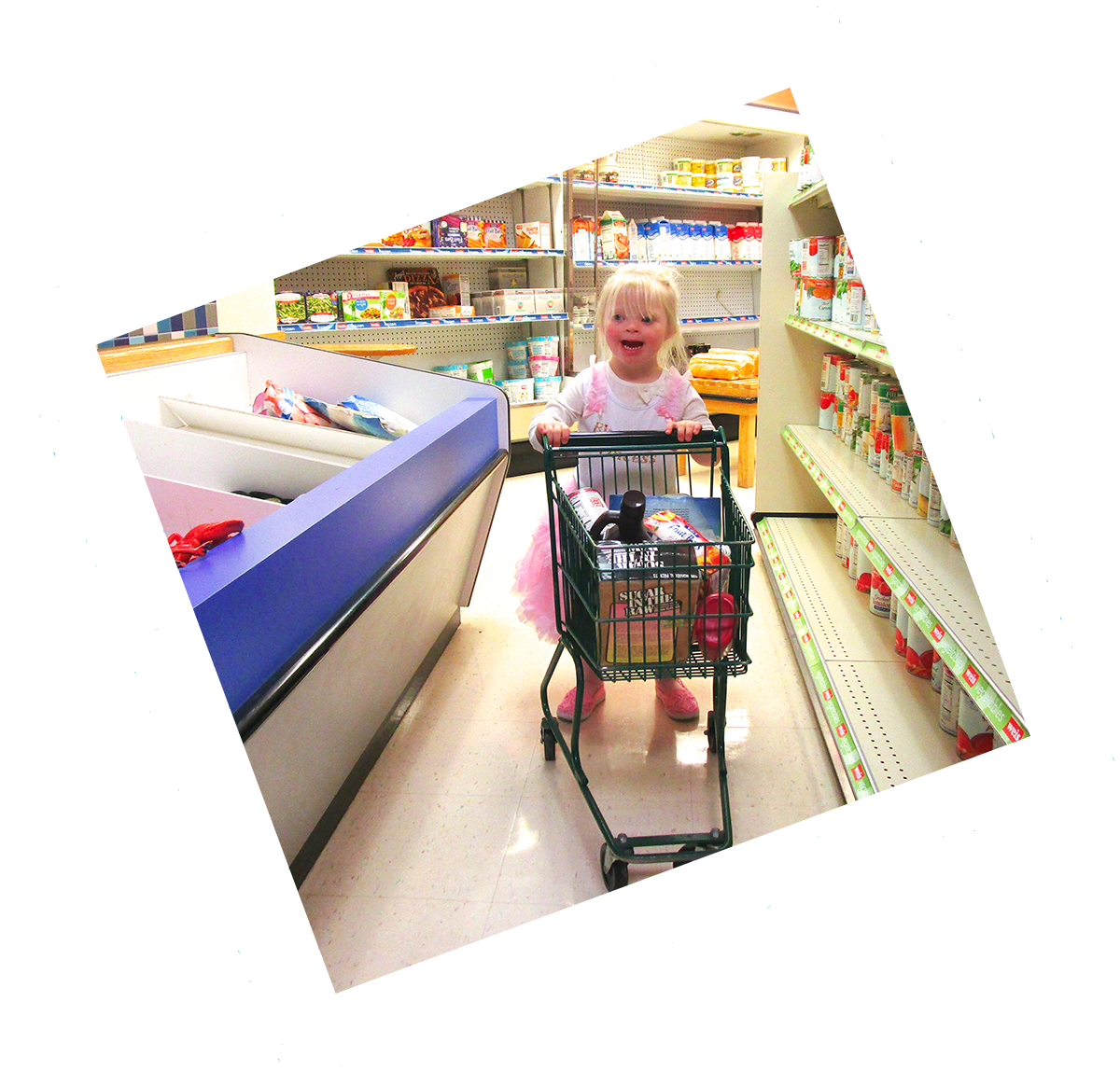 Preschooler in Weis Market exhibit