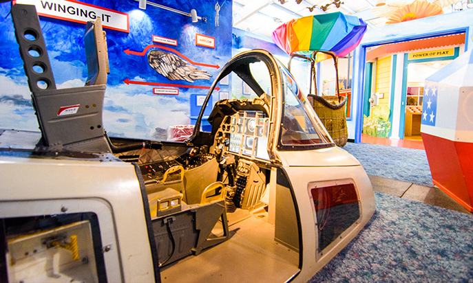Cockpit in flight exhibit