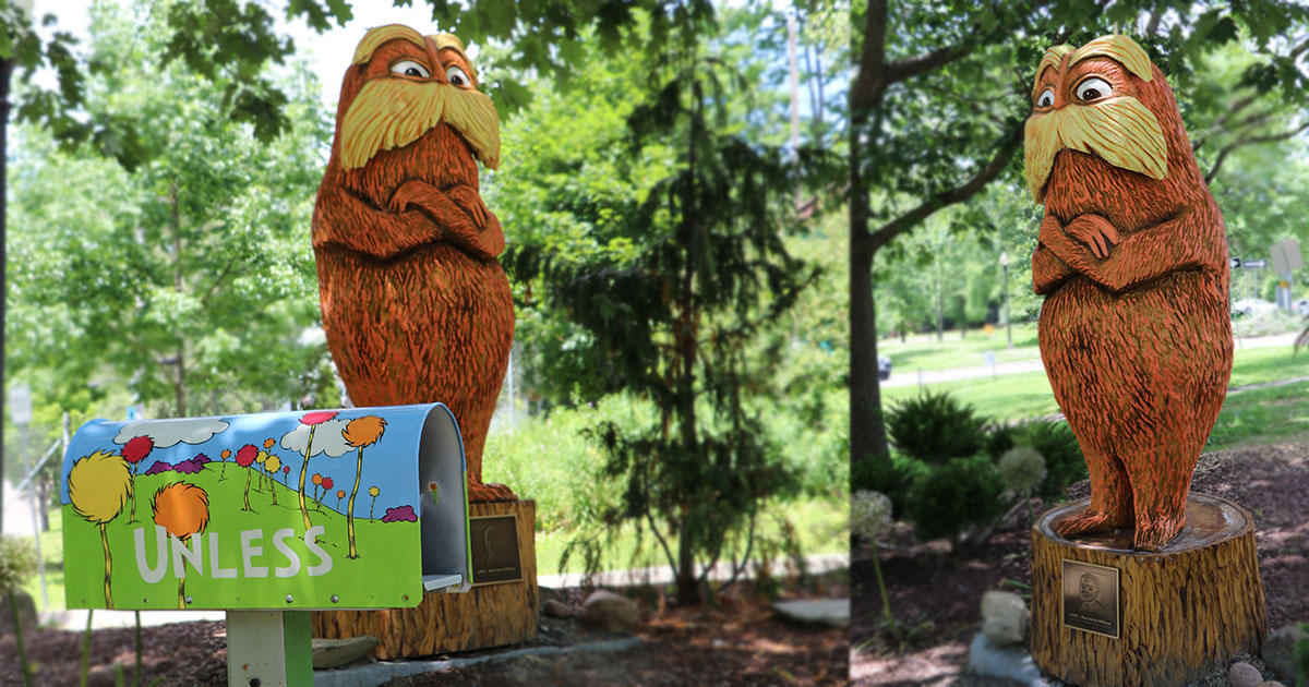 The Lorax in the Story Garden
