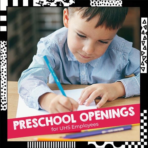 Preschool for UHS Employees