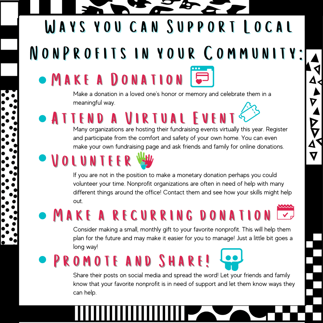 Ways to Support Local Non-Profits in your Community