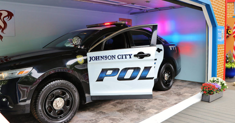 Police Car Exhibit at The Discovery Center